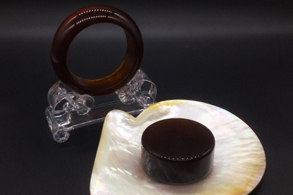 Amber Ring and Stone